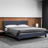 Milano Sienna Luxury Bed with Headboard - Charcoal - Queen
