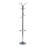 Bailey Chrome Heavy Weight Hat Coat Clothes Rack Stand Hanger