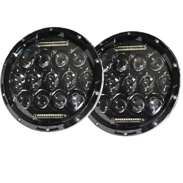 2x 7inch 150w Philips Led Headlight Round Harley Jeep Wrangler H/L/DRL