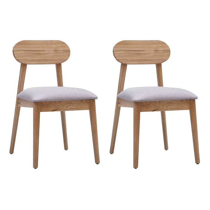 Alison White Oak Dining Chair (Set of 2)