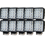 10PCS 80W Philips LED Work Light Bar Flood Offroad 4WD SUV Driving Lamp 12V 24V