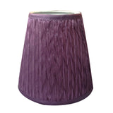 Purple-Sml-Crinkled-Pleat-Shade-with-teardrop-bulb-fitting--DD-22010SH-afterpay-klarna-laybuy