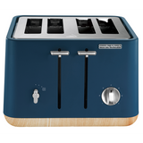 Morphy Richards Scandi Aspect 4 Slice Deep Blue Toaster 240013