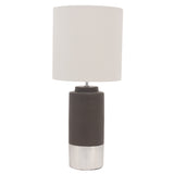 Zane-Concrete-Table-Lamp--Silver-trim-drum-shade-DD-26053-afterpay-klarna-laybuy
