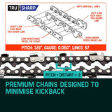 "2 X 16"" Baumr-AG Chainsaw Chain 16in Bar Replacement Suits SX38 38CC Saws"