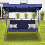 Milano Outdoor Steel Swing Chair - Dark Blue (1 Box)