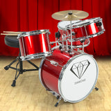 Children's 4pc Drum Kit - Red