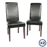 Swiss Dining Chair Set of 2 Black