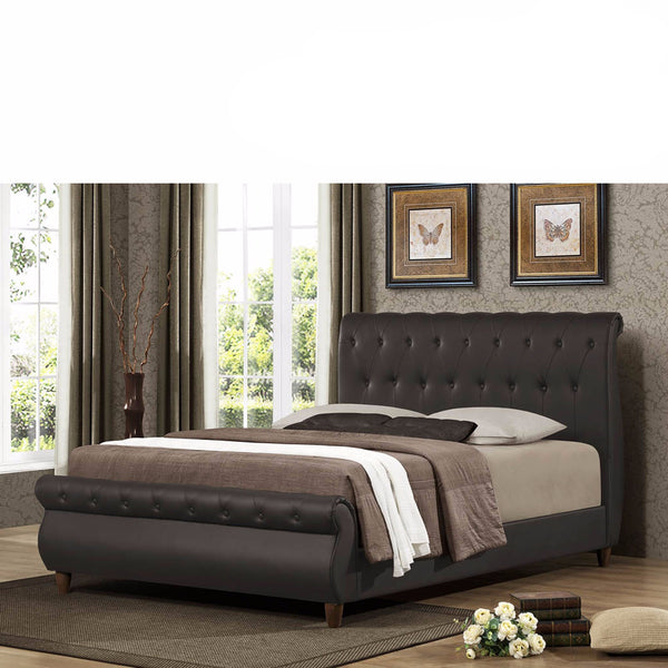 Ansel Brown Queen Bed Frame