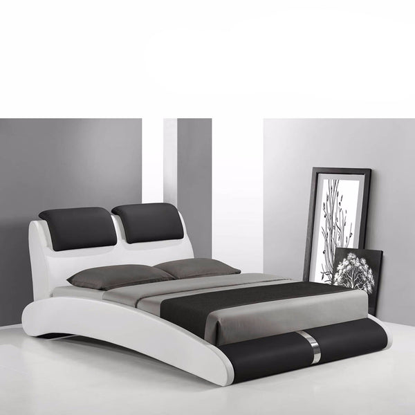 Marco PU Leather Curved Bed Frame - Queen