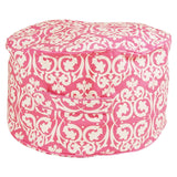 Damask Kids Bean Ottoman Cover (Pink and White)