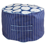 Freckles n Stripes Kids Bean Ottoman Cover (Navy and White)