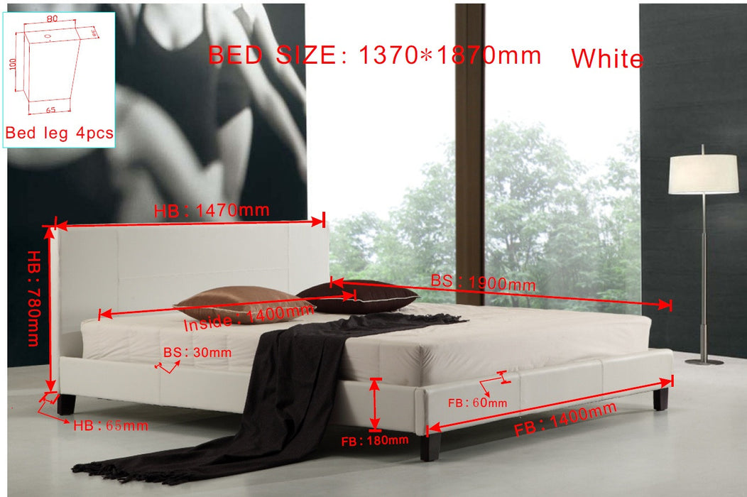 Double-PU-Leather-Bed-Frame-White