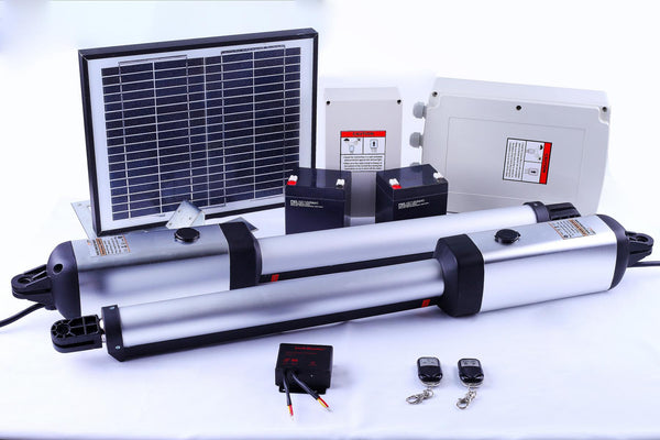 700KG Double Swing Auto Motor Gate Opener with Solar