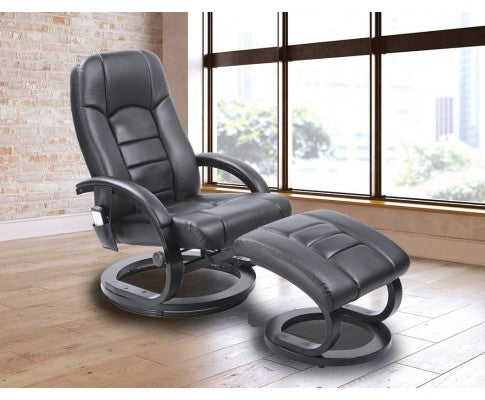 Leather Massage Chair - Black