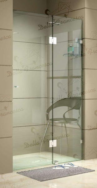120 x 200cm Wall to Wall Frameless Shower Screen 10mm Glass By Della Francesca