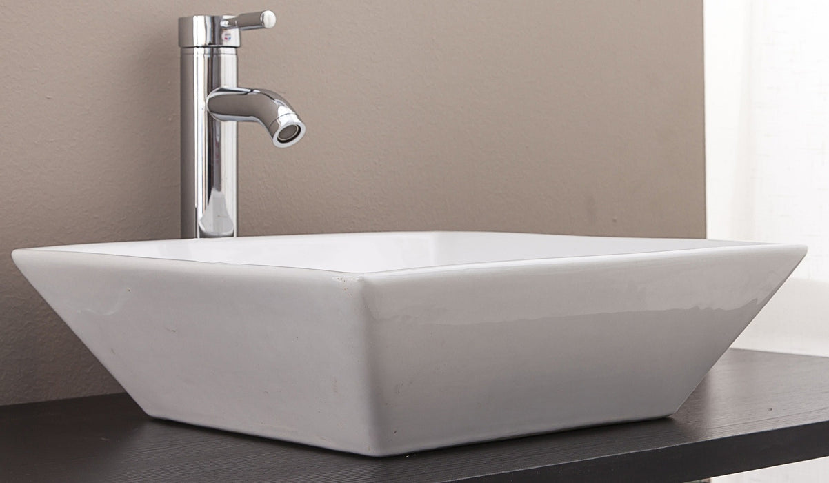Bathroom Ceramic Rectangular Above Countertop Basin for Vanity