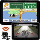 7 inch GPS & Wireless Reversing Camera with Night Vision Bluetooth & Australian Maps