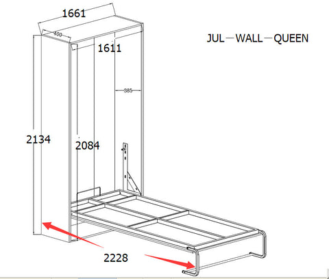 Palermo queen size wall bed afterpay zippay later gator palermo queen size wall bed ccuart Gallery