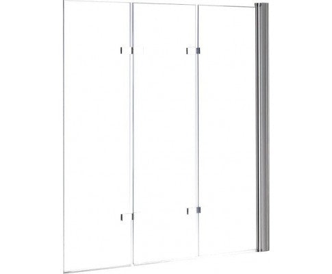 3 Fold Chrome Folding Bath Shower Screen Door Panel 1300mm x 1400mm