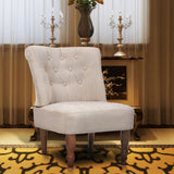 French Chair Cream Fabric