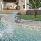 Pool Fountain Stainless Steel 50x30x53 cm Silver