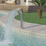 Pool Fountain Stainless Steel 50x30x90 cm Silver