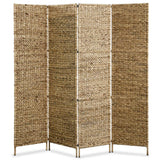 4-Panel Room Divider 160x160 cm Water Hyacinth