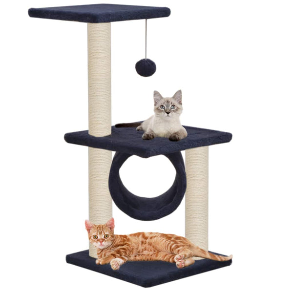 Cat Tree with Sisal Scratching Posts 65 cm Dark Blue