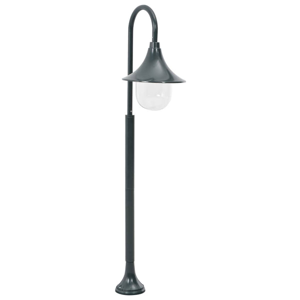 Garden Post Light E27 120 cm Aluminium Dark Green