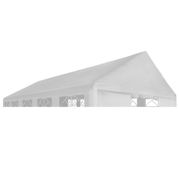 Party Tent Roof 5 x 10 m White
