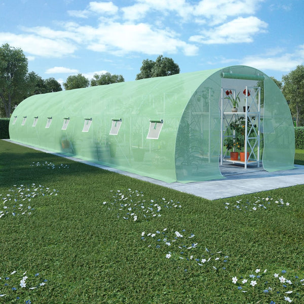 Greenhouse with Steel Foundation 36m² 1200x300x200 cm