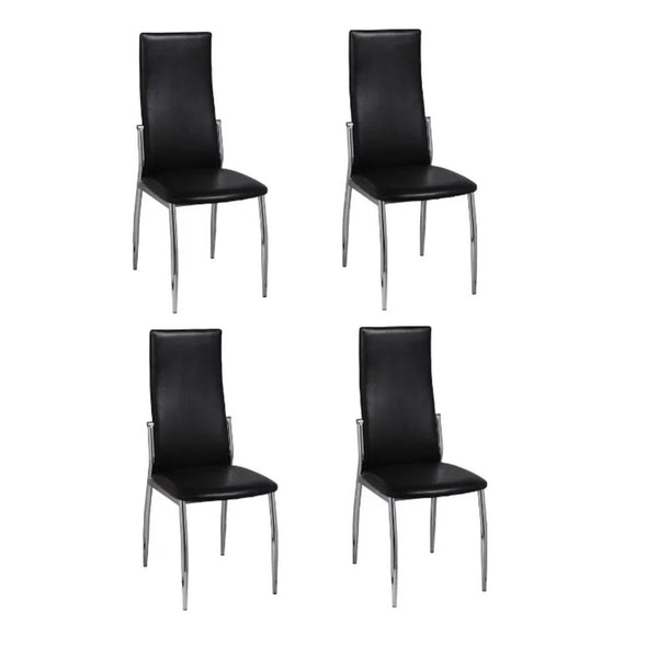 Dining Chairs 4 pcs Artificial Leather Black