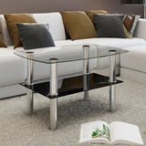 Coffee Table Glass 2 Tiers