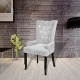 Armchair with Wooden Frame Velvet Silver