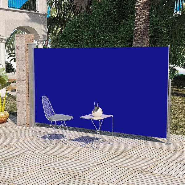 Patio Terrace Side Awning 180 x 300 cm Blue
