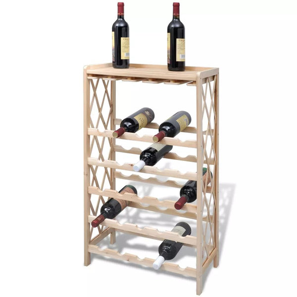Wine Rack for 25 Bottles Wood