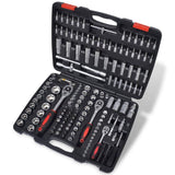 "193pcs 1/4"" & 3/8"" & 1/2"" Drive Socket Bit Set w/ Ratchet Tool Set"