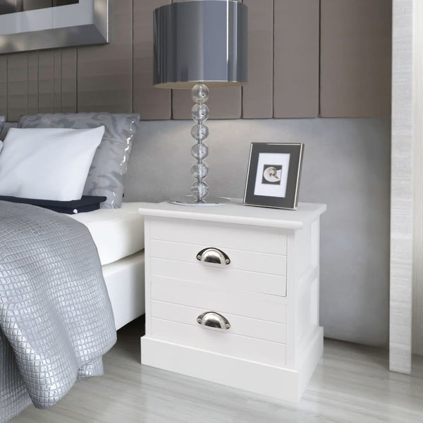 French Bedside Cabinets 2 pcs White