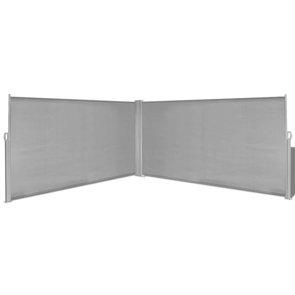 Retractable Side Awning 160x600 cm Grey