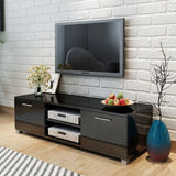 TV Cabinet High-Gloss Black 120x40.3x34.7 cm