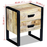Side-Table-with-2-Drawers-Solid-Mango-Wood-43x33x51-cm-VXL-243298-afterpay-zip-laybuy