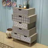 Side Cabinet 6 Drawers Grey