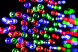 200 LED Solar Fairy Light - Red Green Blue
