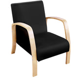Birch Plywood Fabric Sofa Arm Chair Black