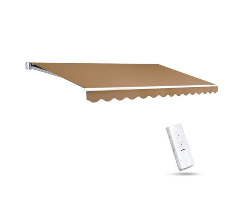 Motorised 4x2.5m Folding Arm Awning - Beige