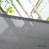 2.4m x 2.5m Retractable Straight Drop Roll Down Awning - Grey