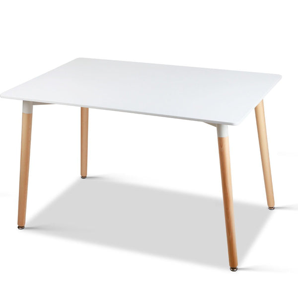 Dining Table 6 Seater Replica DSW Eiffel Cafe Kitchen White 120cm