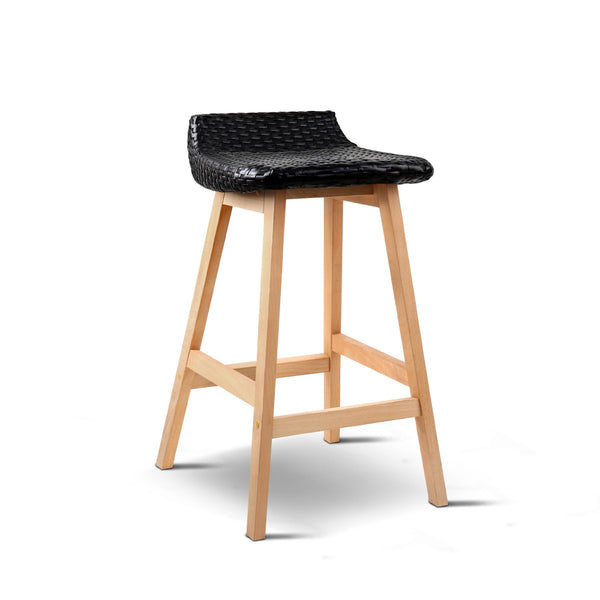 Set of 2 Weva Bar Stool - Black