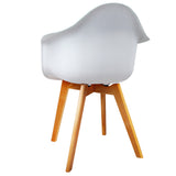 Set of 2 Replica Eames Dining Chair - White